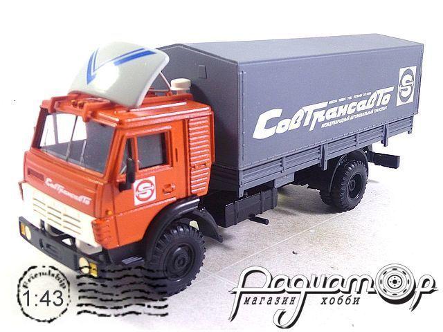 КамАЗ-5325 с тентом «Совтрансавто» и металлическим спойлером (1988) 2089-1W