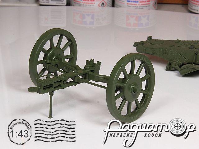 Передок (спицованные колёса) Б-4, БР-2, БР-5, Б4-М (поворотная ось) peredokb43