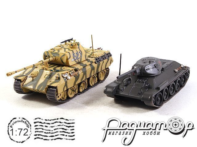 Набор The Battle of Kursk USSR 1943 (Pz.Kpfw V Panther Ausf. D vs Т-34/76) T901