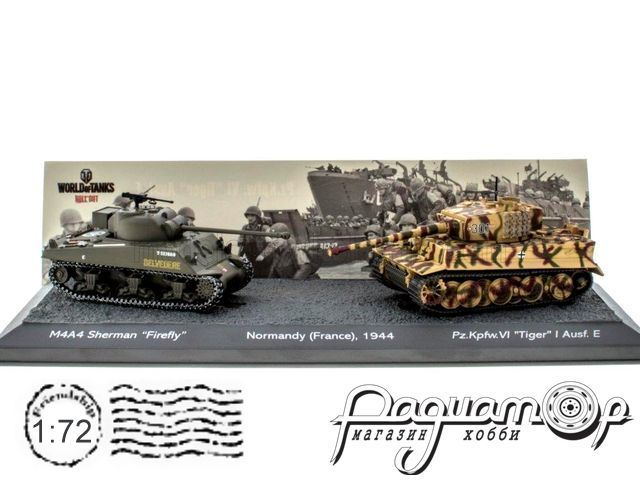 Набор The Battle of Normandy France 1944 (M4A4 Sherman US Firefly vs Pz.Kpfw. VI Tiger I Ausf.E) T902