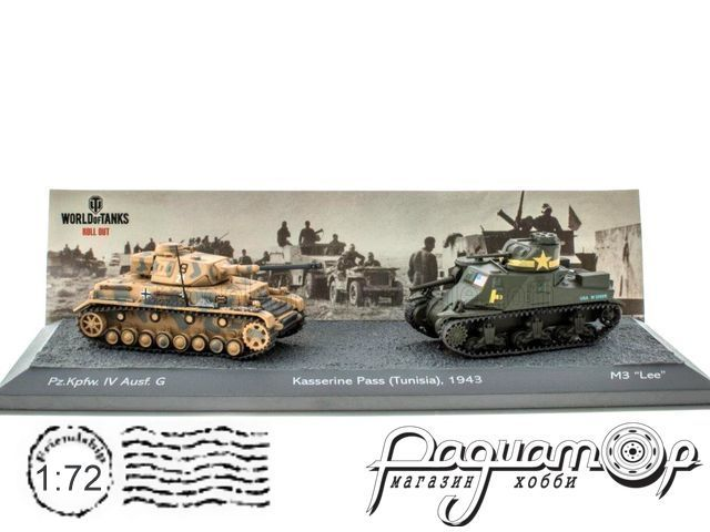 Набор The Battle of Kasserine Pass Tunisia 1943 (Pz.Kpfw. IV Ausf.G vs M3 Lee) T905