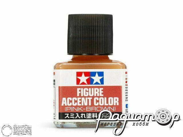 Краска для финальной отделки моделей (смывка) розово-коричневая (40мл) 87201