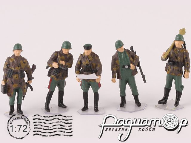 Набор фигурок Немецкие солдаты (5шт) P0410