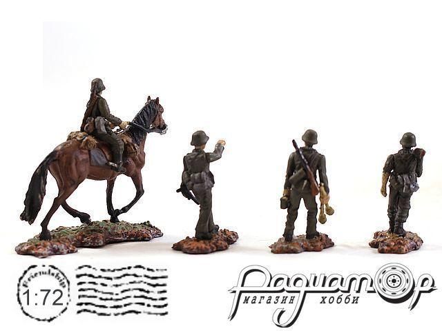 Набор фигурок Ваффен-СС кавалерия (4шт) 83099-4