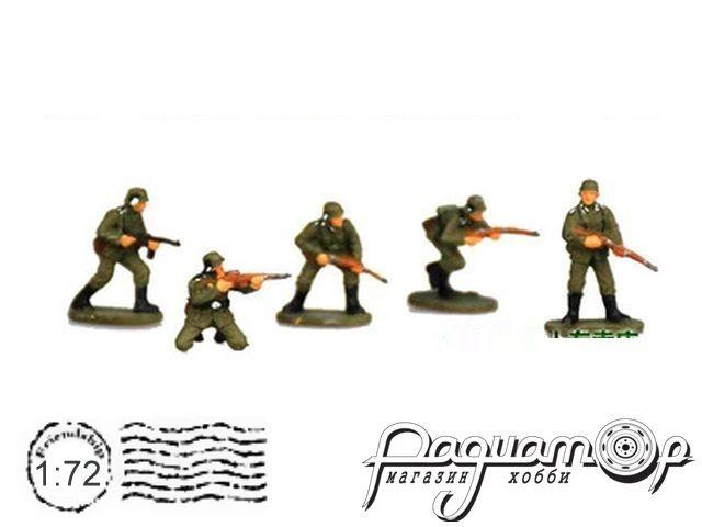 Набор фигурок Подразделение немецкой пехоты (5шт) HB07
