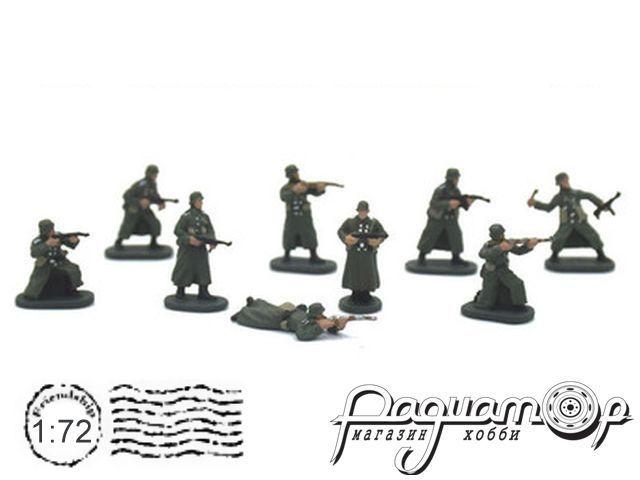 Набор фигурок Немецкая пехота в шинелях (9шт) H069