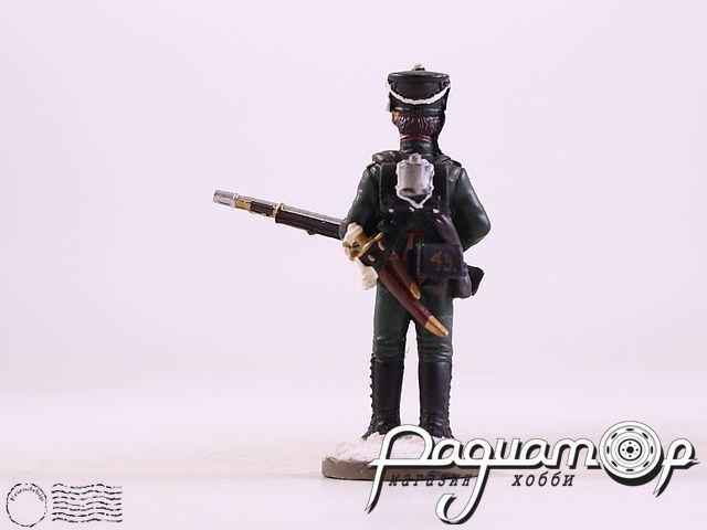 Рядовой 49-го егерского полка в зимней парадной форме (1812) (I)