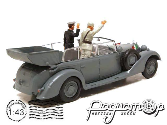 Mercedes-Benz 770K, Wehrmacht, Visit of Mussolini in Germany with Hitler (1938) 4250-P