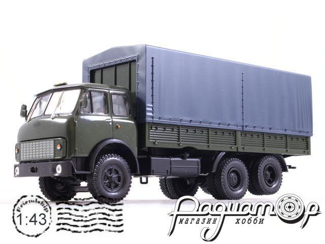 Автолегенды СССР Грузовики №55, МАЗ-516Б c тентом (1974)