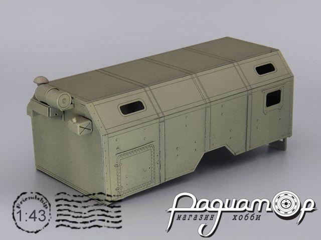 Надстройка Кузов унифицированный нормального габарита (КУНГ) для двухмостовых КамАЗов MK056