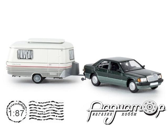 Mercedes-Benz 190E with Eriba camper (1988) 13215