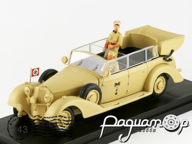 Mercedes-Benz 770K Africa Korps Rommel with figures (1941) 4342-P
