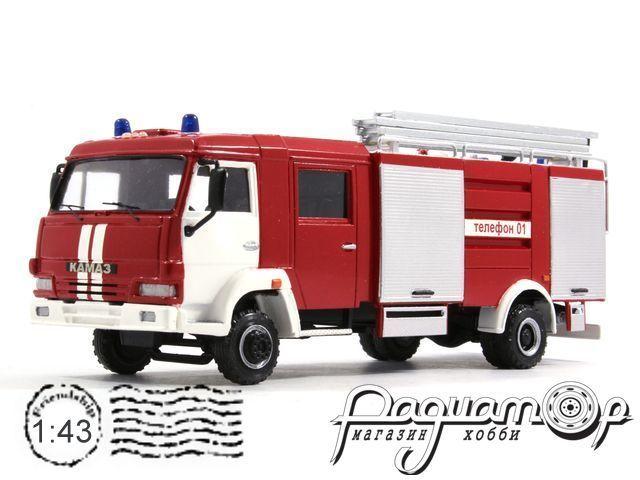КамАЗ-4308 АЦ 2,5-40 пожарная автоцистерна (2004) 3-4