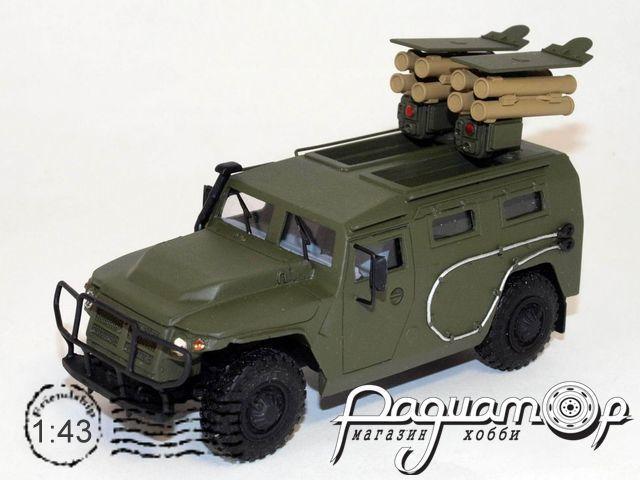 Сборная модель ГАЗ Тигр с ПТРК Корнет-Д VM133