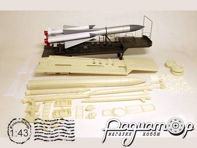 Сборная модель Прицеп ТЗМ РЗО С-200 Ангара с ракетой VM150
