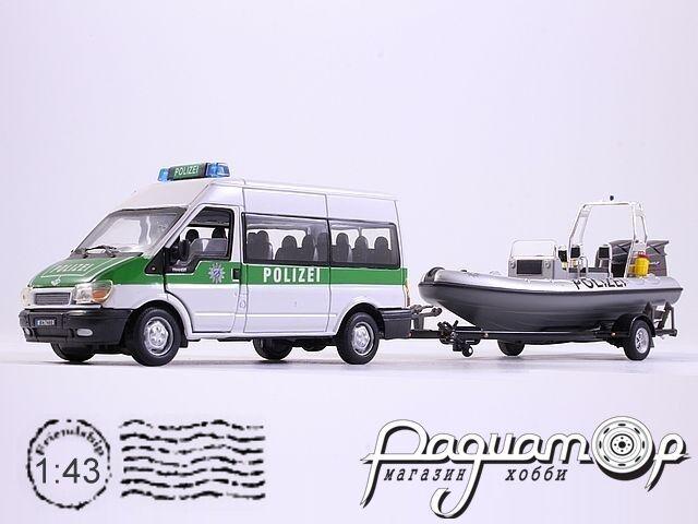 Ford Transit Polizei Minibus с прицепом и лодкой (1991) 480ND-007 (G)