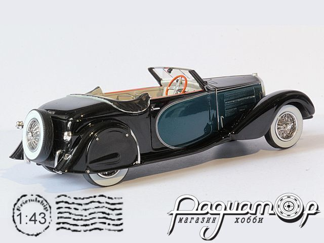 Bugatti T57 Stelvio ch.57406 Cabriolet Personal Car Of Jacques Dufilho Restored Version (1936) EVR221