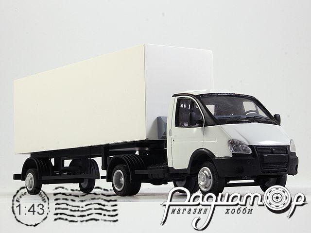ГАЗ-3302 «Газель» тягач с полуприцепом-фургоном (1994) NIK143