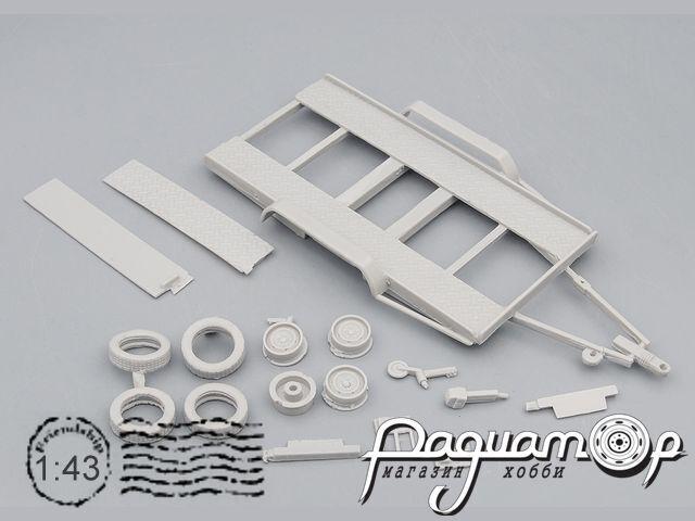 Сборная модель Прицеп-автовоз для легковых автомобилей UM-K033