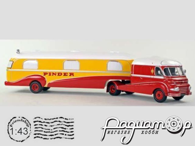 Ford F798 & house trailer Pinder Circus C03-C04
