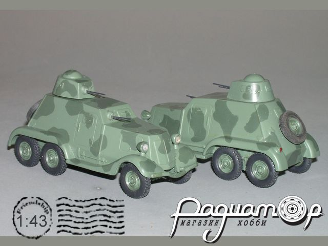 Сборная модель БА-21 6х4 бронеавтомобиль K2-43
