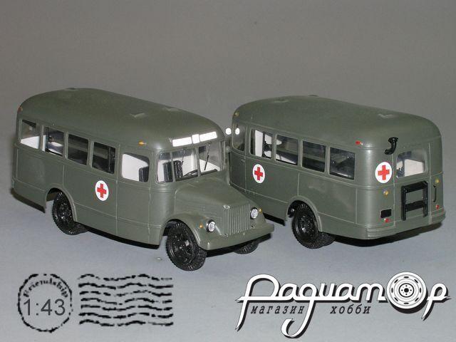 Сборная модель ПАЗ 651В санитарный  K4-12.3