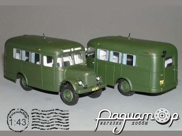 Сборная модель ПАЗ-654 4х4 штабной K4-15.3