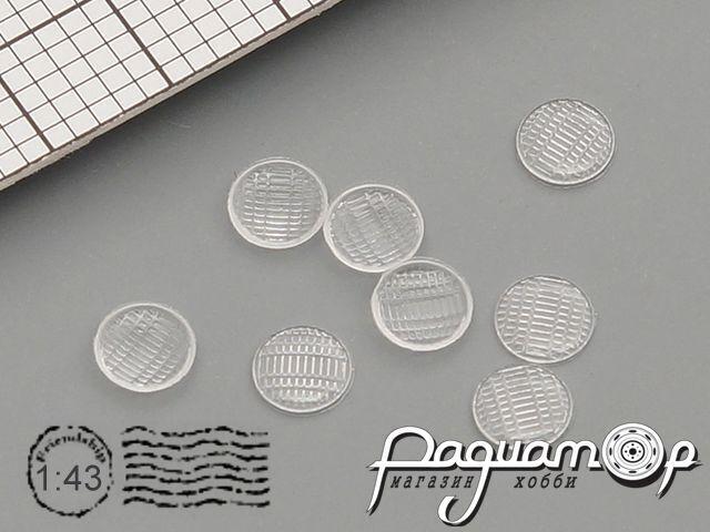Комплект линз для фар (с рифлением) ФГ9-3711201 (3,5 мм) (8шт) ORN43008