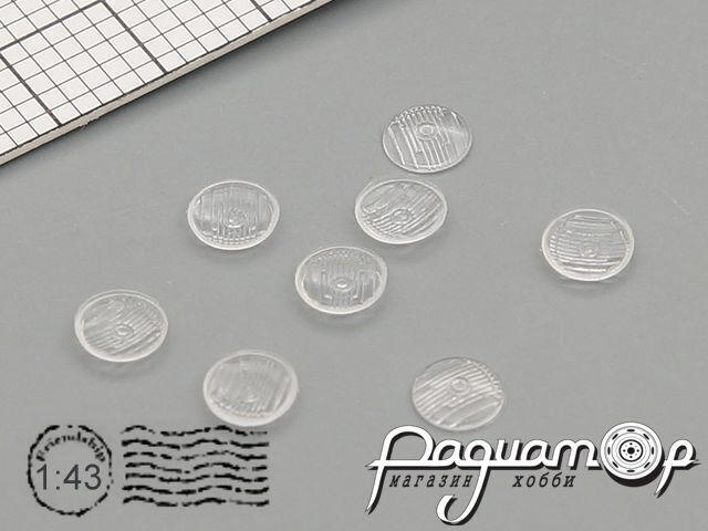 Комплект линз для фар (с рифлением) ВАЗ-2103 (дальний) (3,5 мм) (8шт) ORN43007