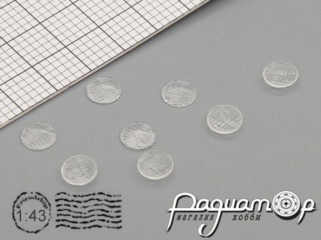 Комплект линз для фар (с рифлением) ФГ140-3711201 (4 мм) (8шт) ORN43004