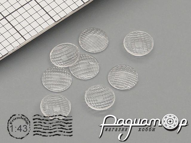Комплект линз для фар (с рифлением) ФГ105-3711201 (4 мм) (8шт) ORN43003
