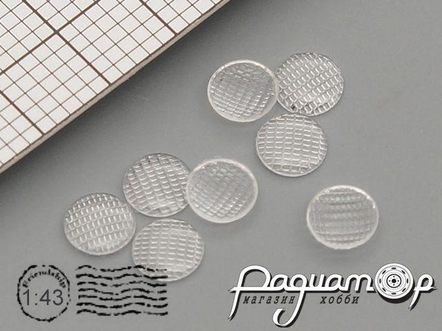 Комплект линз для фар (с рифлением) ФГ1-3711201 (4 мм) (8шт) ORN43001