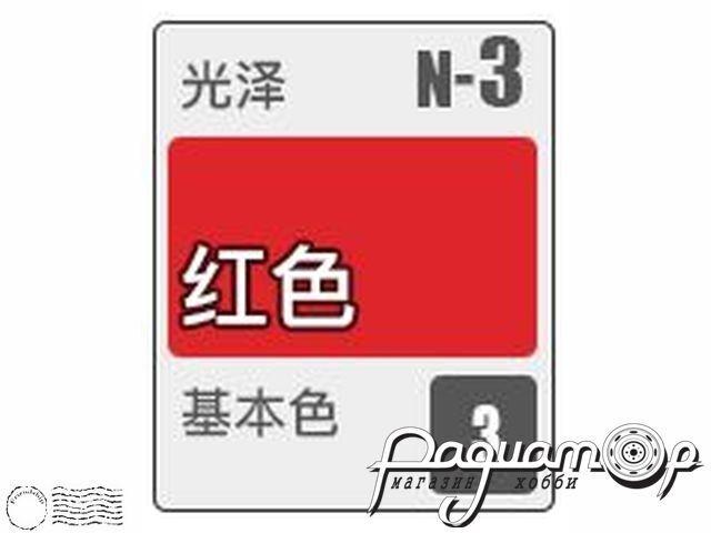 Краска Acrysion, глянцевый красный (10мл) N3