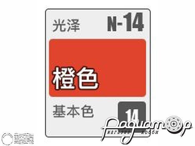 Краска Acrysion, глянцевый оранжевый (10мл) N14