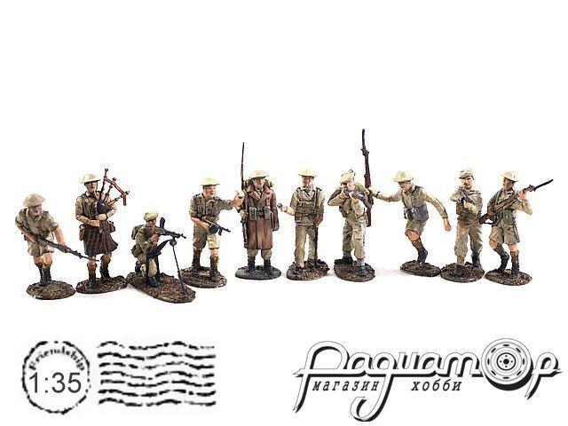 Набор фигурок Шотландская пехота (10шт) REV32