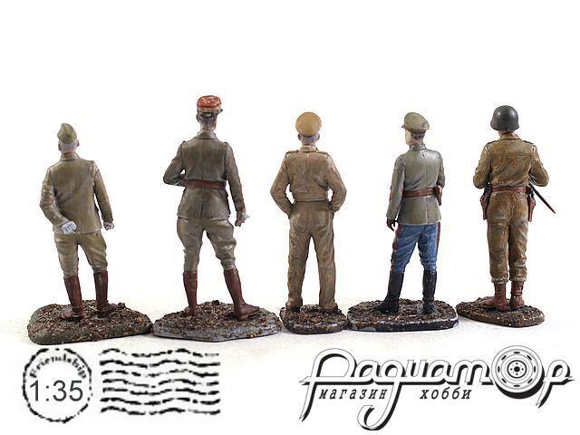 Набор фигурок Генералы второй мировой войны (Монтгомери, Жуков, Паттон, де Голь, Хаджиме) (5шт) 3510