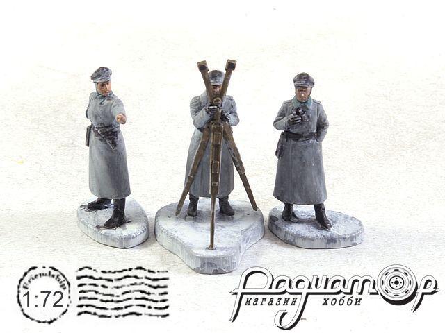 Набор фигурок Немецкий штаб в зимней форме (3шт) ZVE6232