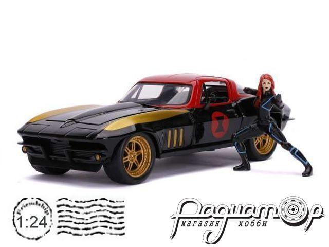 Chevrolet Corvette с фигуркой Black Widow (Черная Вдова) (1966) 31749