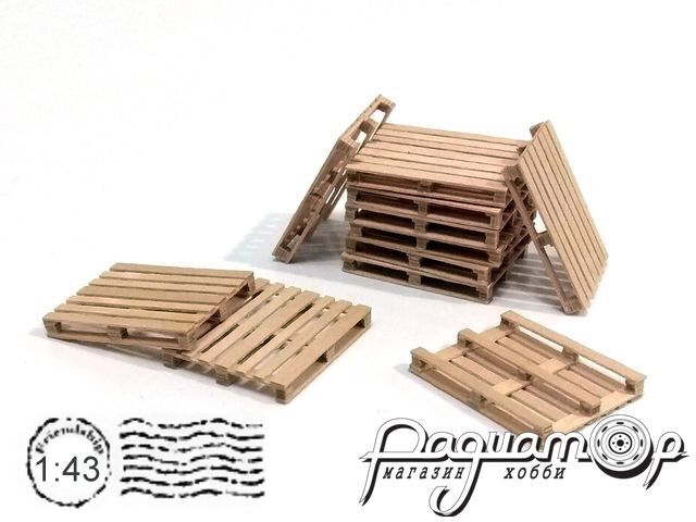 Поддон деревянный 28х23х3,5мм (2шт) HW02070