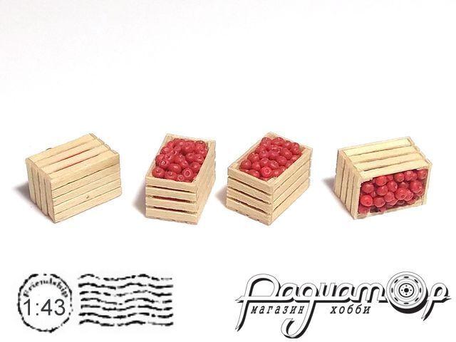 Ящик деревянный, яблоко красное (14х9х9мм) HW02151