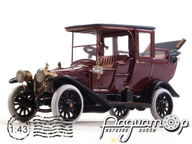Руссо-Балт С24/35 Ландоле (VII серии) открытый (1912) 200928 (темно-красный)