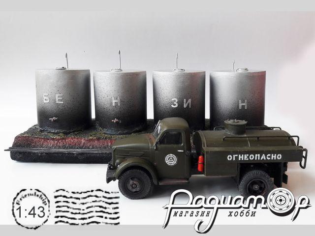 4 цестерны «Бензин» 8572