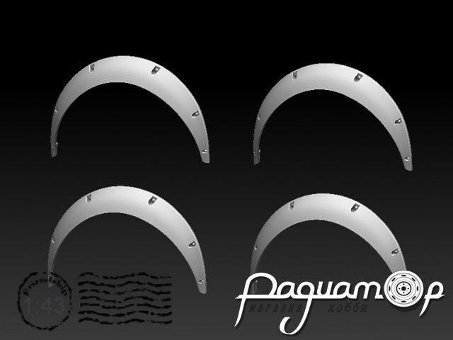 Расширители колесных арок,Фендер-90 (4шт) KDR43014