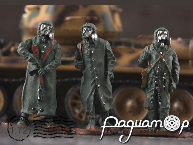 Набор Советские солдаты в химзащите (3шт) 201005