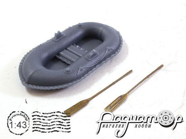 Лодка Нырок + 2 весла (1шт) (ZU) 643