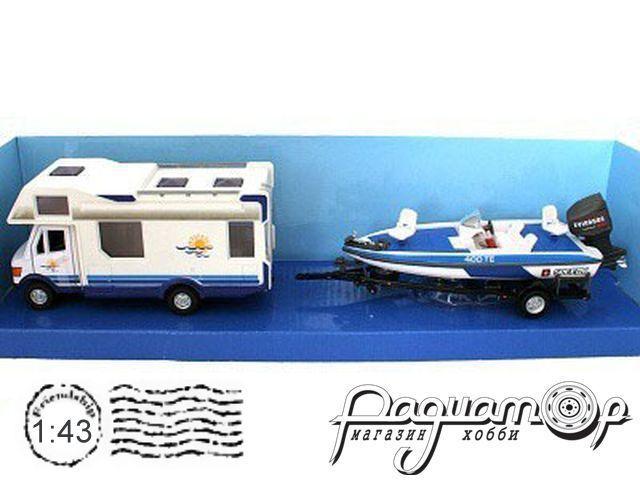 Mercedes-Benz Caravan с прицепом и лодкой (1998) 483-004