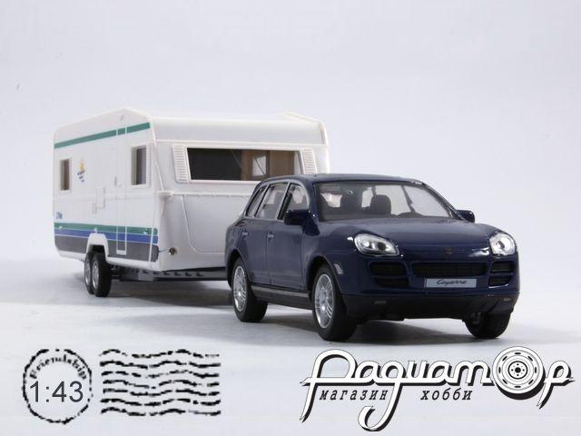 Porsche Cayenne S с прицепом Caravan (2002) 481-009
