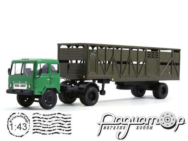 КАЗ-608 с полуприцепом ОдАЗ-857Д скотовоз (1972) 8-2-19-16