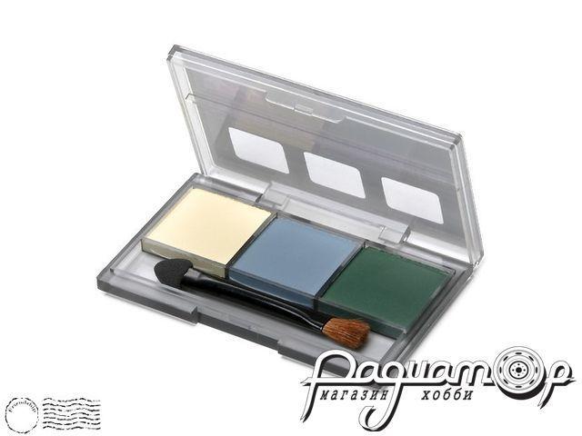 Набор E сухих красок для имитации старения и погодных эффектов: Эффект сухой кисти желтый, серый, зеленый 87098
