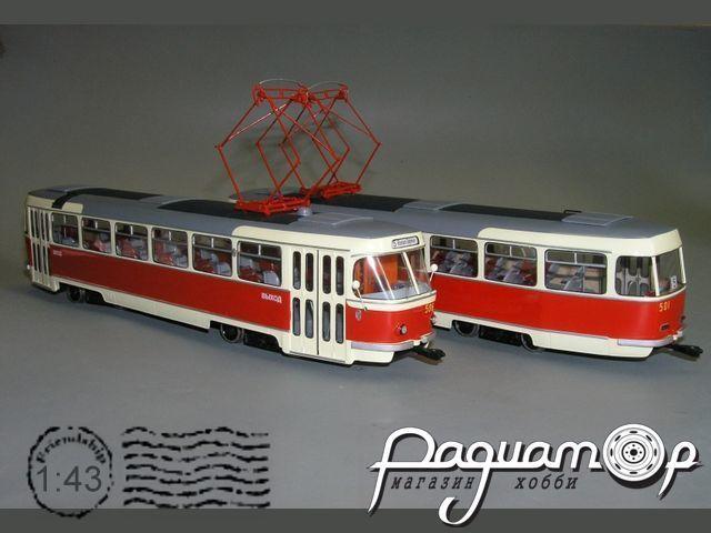Трамвай «Татра» T-3 (М97) Москва (1963) W1-82.1